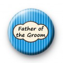 Bright Blue Stripey Father of the Groom Badges