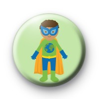 Blue and Green Superhero Badge