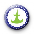 Blue and Green Christmas Tree Badge