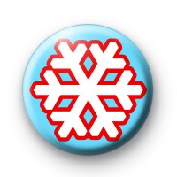 Blue and Red Snowflake Badges