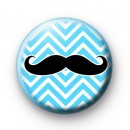 Blue Chevron Moustache Badges