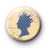 Blue Queen Royal Button Badges