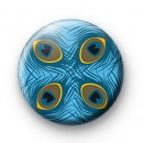 Blue Feathers Button Badges