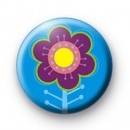 Hippe Flower Button Badge