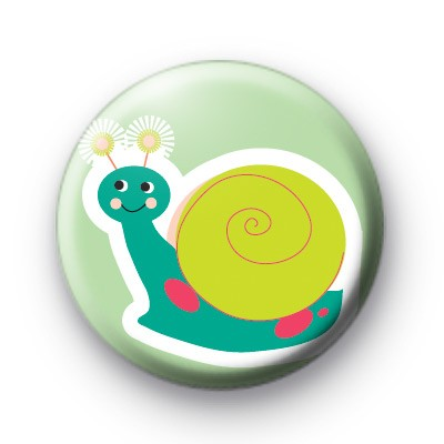 Blue Dotty Snail Badge