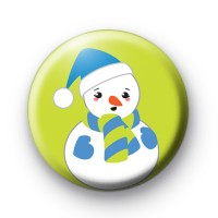 Snowman All In Blue Badges