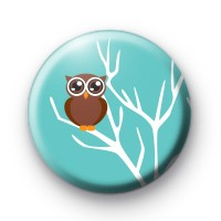 Cute Wise Owl Pin Badge