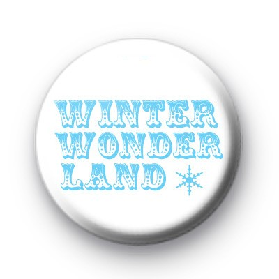 Blue Winter Wonderland Badge