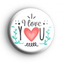 BOHO I Love You Badge