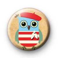 All dressed up Owl Badge