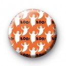Ghost Boo Spooky Halloween Badge
