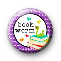 BookWorm Bookish Button Badge