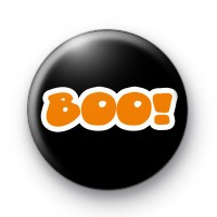 Orange Halloween Spooky BOO Badge