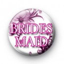 Floral Pink Bridesmaid Badges
