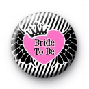 Bride To Be Winged Heart Badge