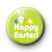 Bright Fun Happy Easter Badge