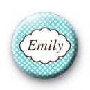 Bright Blue Dotty Personalised Name Badge