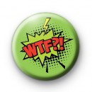 Bright Green WTF Comic Book Style Badge
