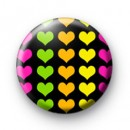 Bright Love Heart Pattern badge