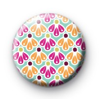 Bright Petal Pattern Button Badge