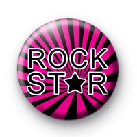 Bright Pink Rock Star Badges