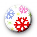 Bright Festive Snowflakes badges