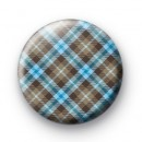 Brown and Blue Plaid Badges