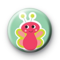 Cute Pink Bug Pin Badges thumbnail