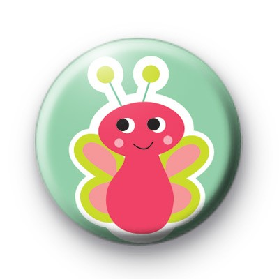 Cute Pink Bug Pin Badges