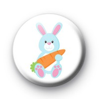 Blue Easter Bunny Cute Badge