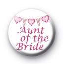 Bunting Aunt of the Bride badge