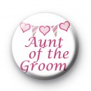 Bunting Aunt of the Groom badge