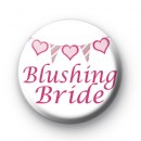 Bunting Blushing Bride badge