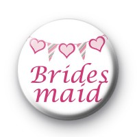 Bunting Bridesmaid Badges