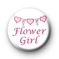 Bunting Flower Girl Badges