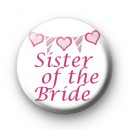 Bunting Sister of the Bride Badge