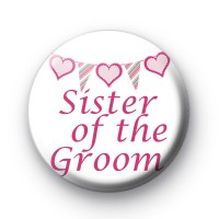 Bunting Sister of the Groom Badge