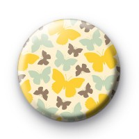 Butterfly Pattern Pin Badges