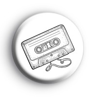 C60 Cassette Tape Badge