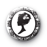 Victorian Cameo Button Badges