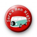 Camper Van Hen Party badge