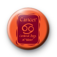 Zodiac Symbol Cancer Button Badge