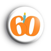 Candle 60th Birthday Badge