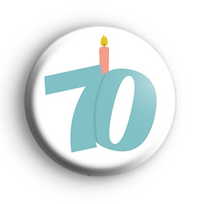 Candle 70th Birthday Badge