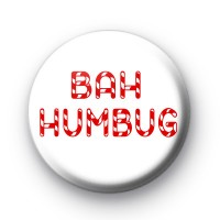 Bah Humbug Candy Cane Badge