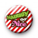 Candy Stripe Naughty or Nice badges