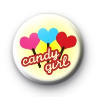 Candy Girl Button Badges