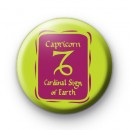Zodiac Symbol Capricorn Button Badge