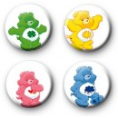 Set of 4 Care Bear Button Badges