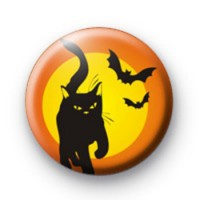 Black Cat and Spooky Bats Badges